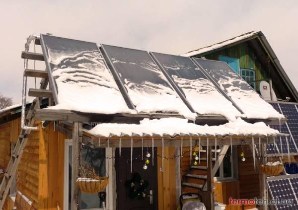 Снег на плоских коллекторах Мифы о солнечных коллекторах